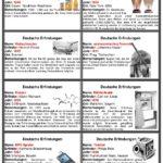 18 páginas de tarjetas sobre inventos alemanes