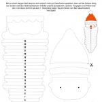 Veinte patrones de manualidades navideñas para niños, con instrucciones en alemán.