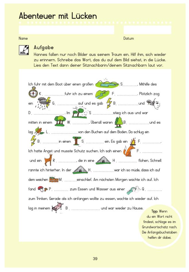 35 páginas de actividades de vocabulario alemán para niños.